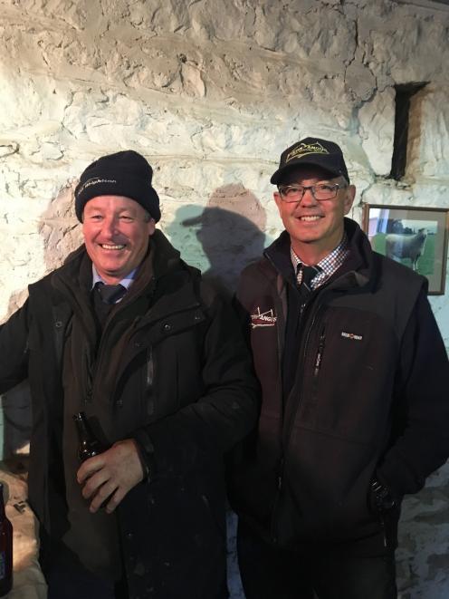 James Fraser and auctioneer John McKone. PHOTO: ANNIE CREBA