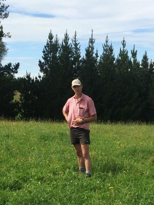 Hamish Bielski in a permanent pasture sward.