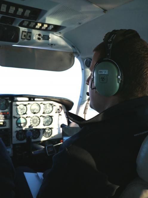 Sven Thelning in the cockpit during his time with Mainland Air in 2014. PHOTO: REBECCA RYAN