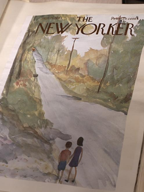 One of his trademark New Yorker covers.