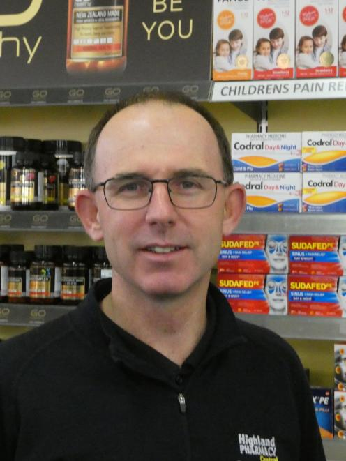 Pharmacist Alistair Forbes, of Highland Pharmacy, says reward from any investment in the Teviot...