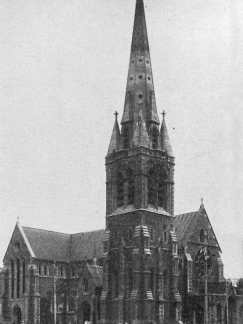 The Anglican cathedral, Christchurch. — Otago Witness, 6.7.1920