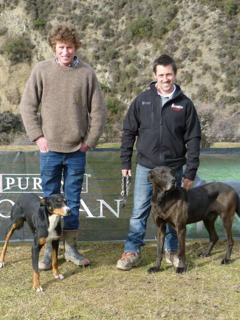 Fergus McLean with Dan and Richie Williams with Ranger (Waikari-Omihi). PHOTO: SUPPLIED