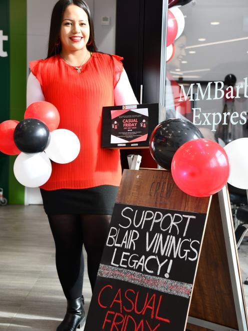 MMBarber Express Invercargill manager and hair stylist Waimarie Parata outside the shop yesterday.