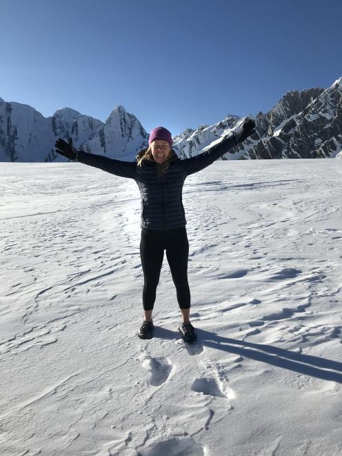 The author enjoys the sensory delights of Franz Josef Glacier. PHOTOS: SUPPLIED