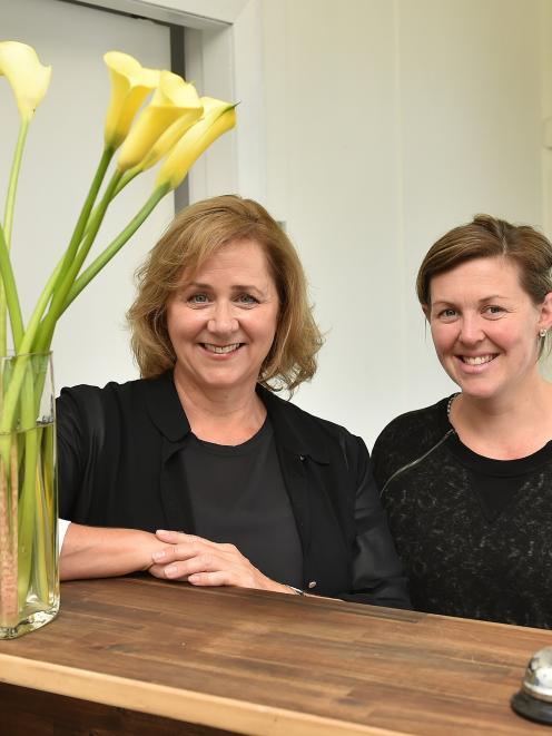 KiwiHarvest founder and chief executive Deborah Manning (left) and Dunedin manager Susie...
