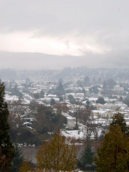Reefton in the snow.