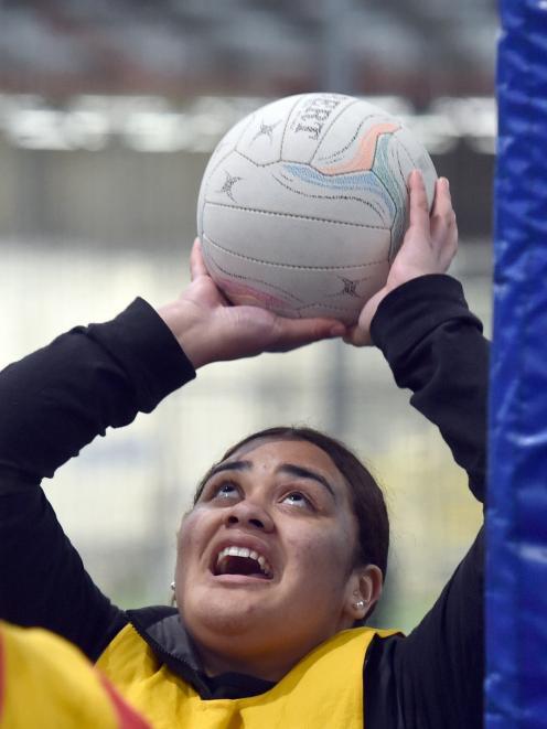 Nabaya Qauqau (16), of Dunedin, takes a shot.