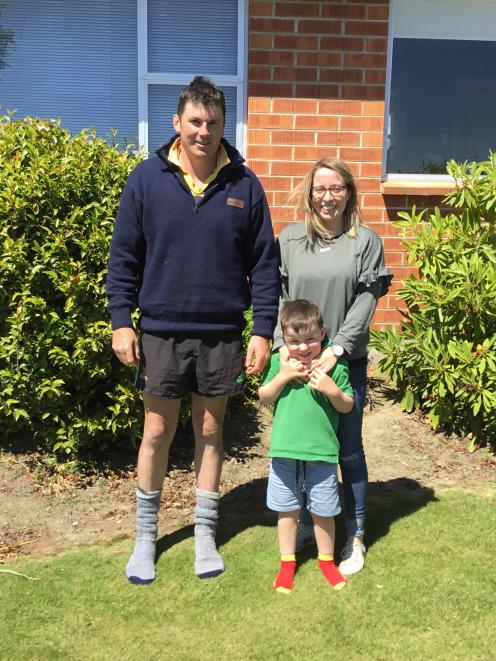 Dean and Sarah Rabbidge (pictured with son Ted, then 4), are moving from a crossbred to full...