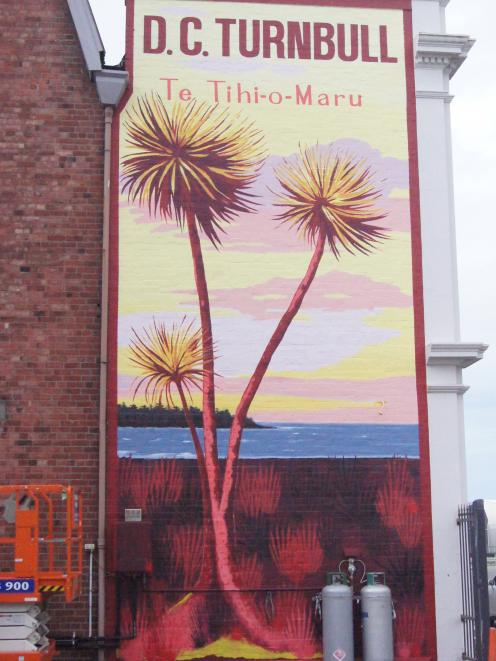 Aroha Novak has completed the mural on a wall of the DC Turnbull & Co building in Strathallan St...