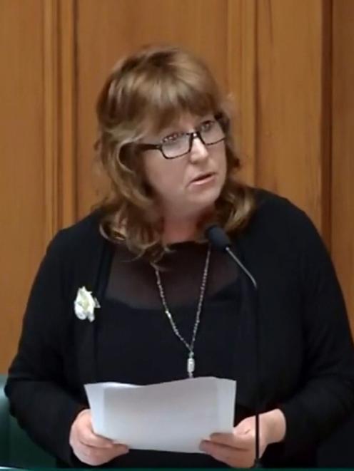 Clare Curran in Parliament last Thursday. PHOTO: PARLIAMENT TV