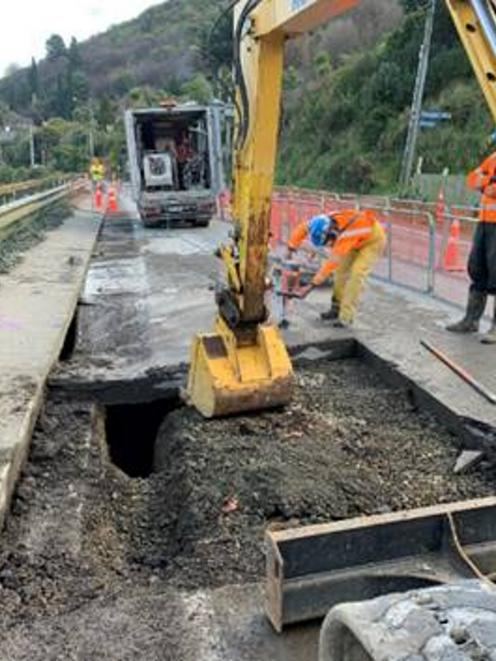 The work is expected to take several weeks. Photo: NZTA