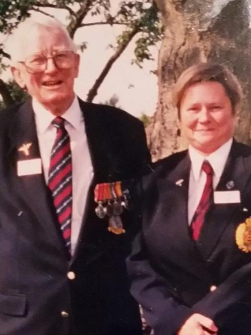 Marryllyn Donaldson with her late father, Bill Bennett. PHOTO: SUPPLIED