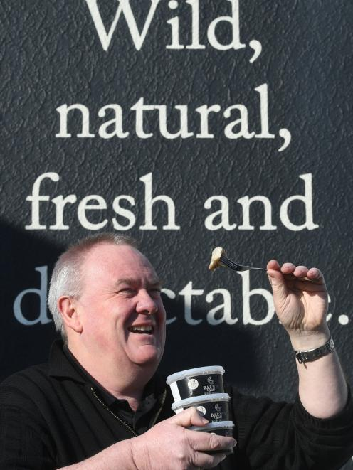 Barnes Wild Bluff Oysters general manager Graeme Wright enjoys the taste of a great season. PHOTO...