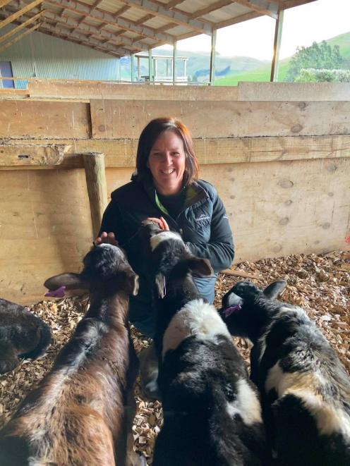 Dairy farmer Lynne Johnston, of Clarendon, has been rearing calves for 18 years. PHOTO: LYNNE...
