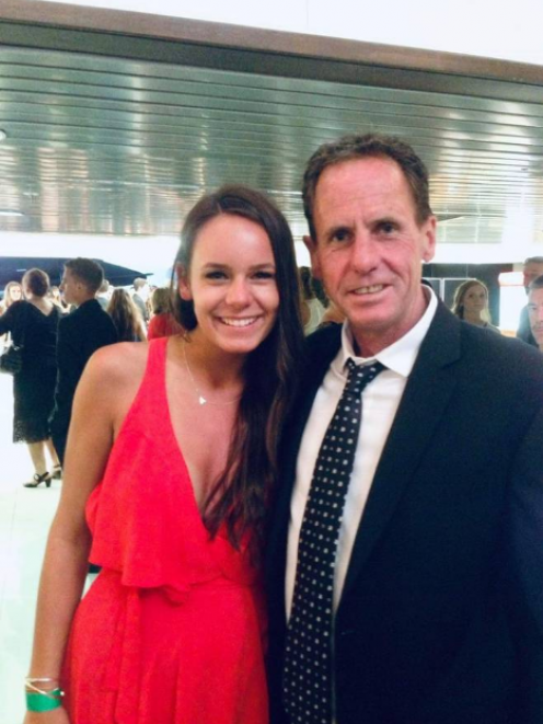 Tori Wheelans and her father. Photo: Supplied