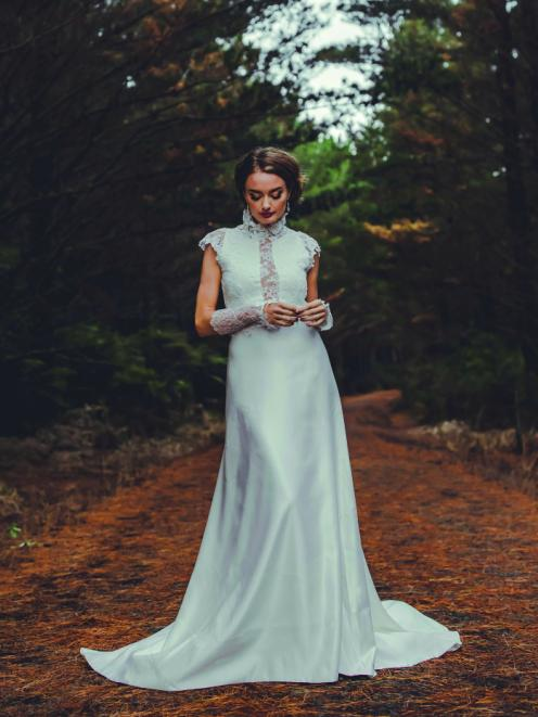 Wedding dress from Beau Couture. Photo: Kate Little photography