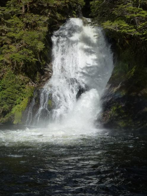 The Iris Burn Falls near the Iris Burn Hut.