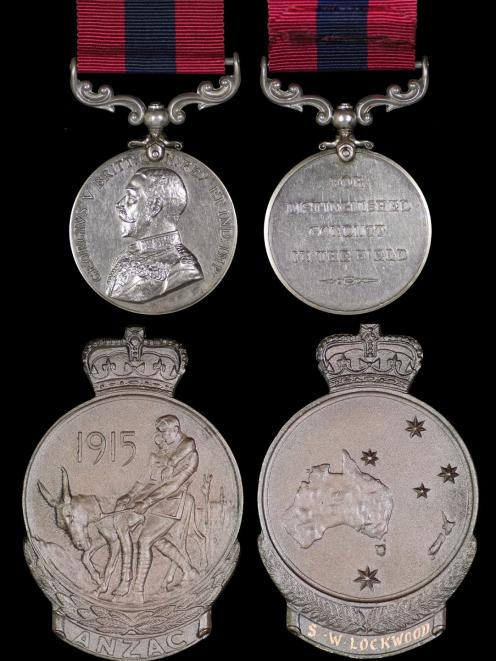 The WW1 Distinguished Conduct Medal, awarded to the late Sergia Wesley Lockwood, of Dunedin....