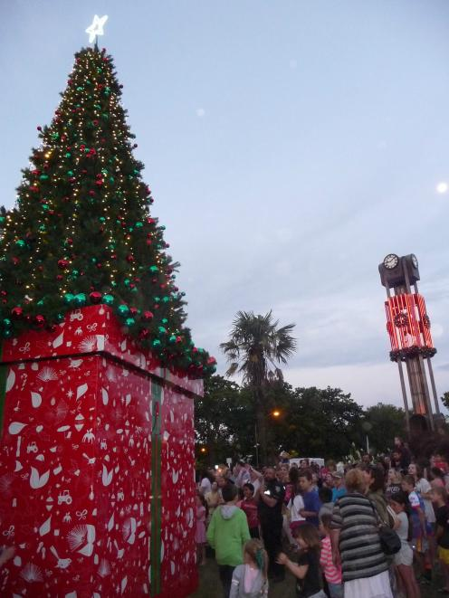 Ashburton's giant Christmas tree has been in Baring Square East since 2017, but may be up for a...