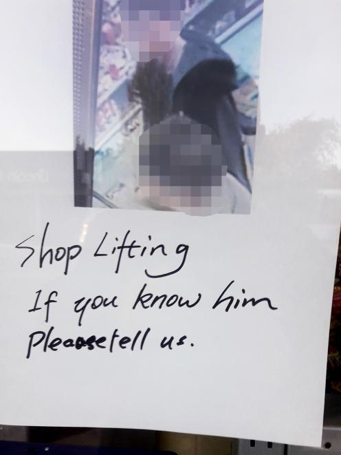 A security camera photo posted outside a dairy. Photo: Supplied