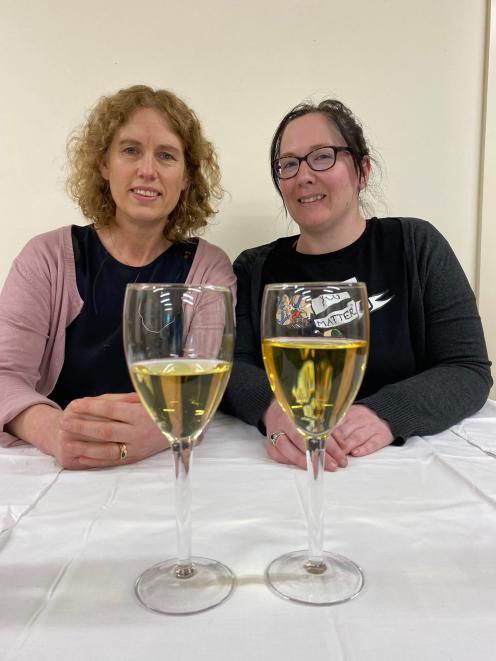 Cancer Society health promoter Linda Buxton (left) and Public Health South senior health...