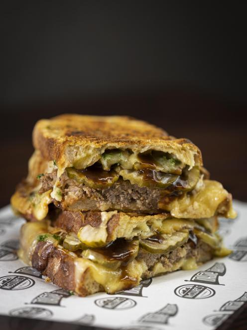 Hungry Hobos' Bat Out of Hell sandwich — a finalist in the annual Great New Zealand Toastie...
