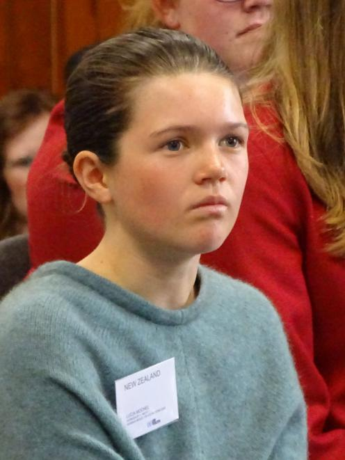 Mount Aspiring College pupil Lucia Mochel. PHOTOS: KERRIE WATERWORTH