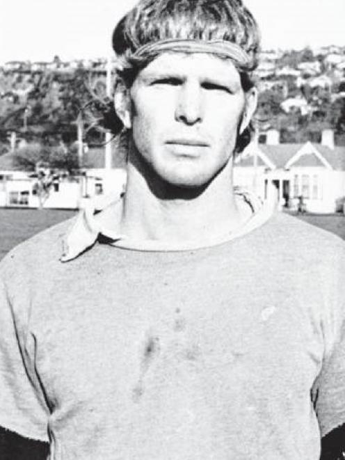 Gibson at an Otago training at Bathgate Park in the mid-1980s. PHOTO: ODT FILES