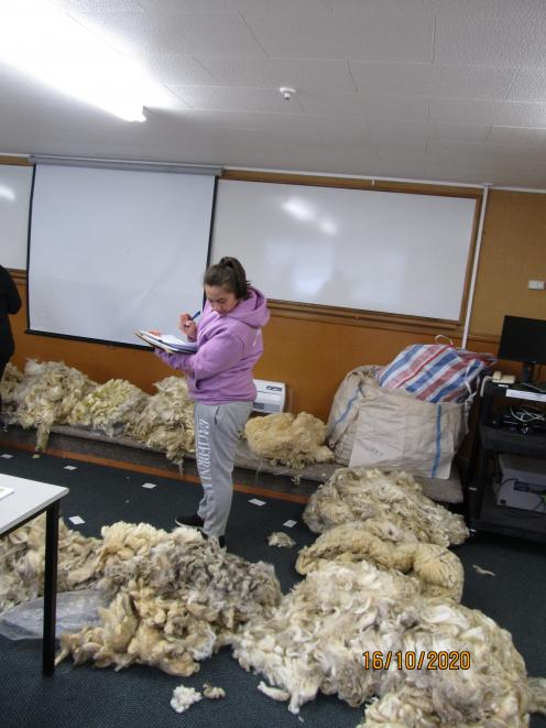 Larnie Morrell, of Alexandra, was one of 14 participants attending the new wool clip 