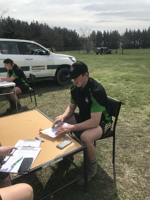 George Blyth, of Clinton, won the FMG Young Farmer of the Year Otago District Skills at...