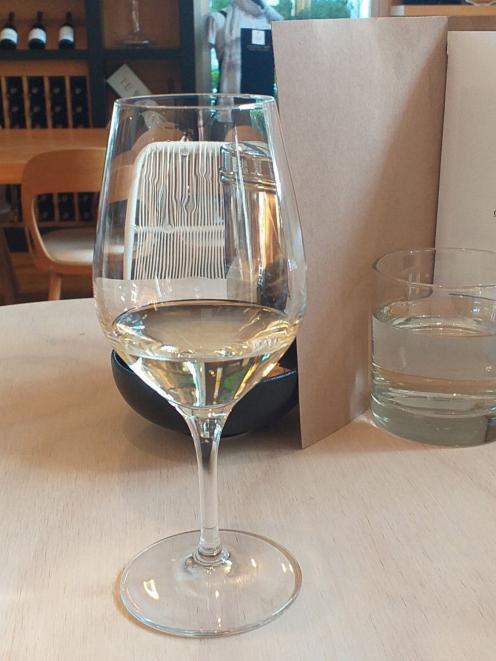 Wine tasting at Cloudy Bay.