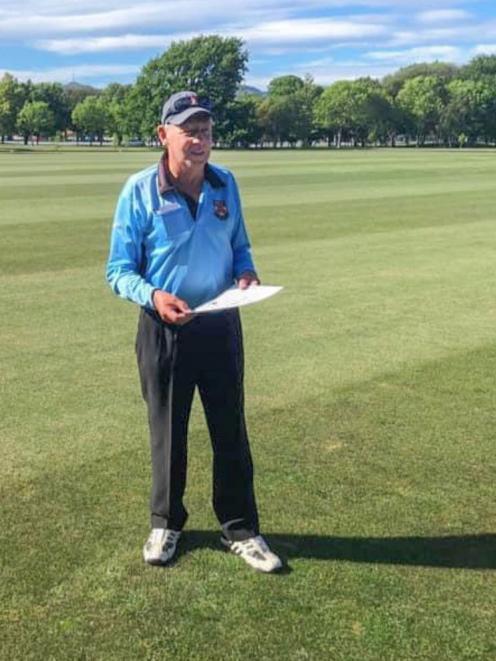 Veteran Christchurch cricket umpire David Stuthridge. Photo: Supplied