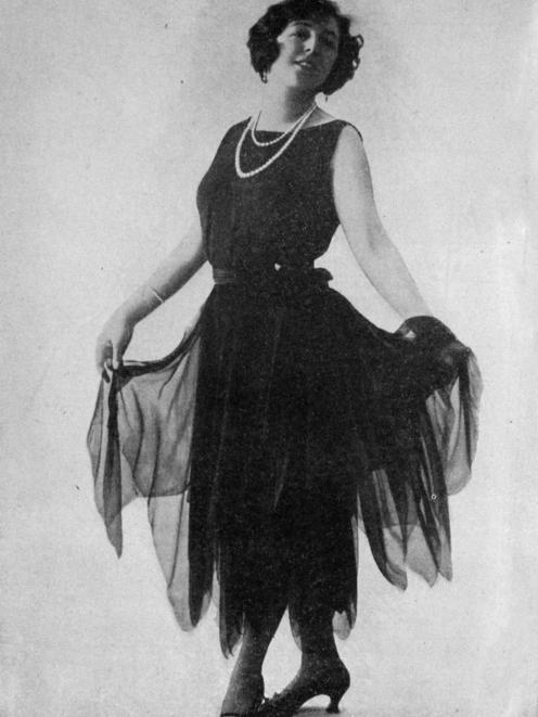 Paris fashions: Madame Marthe Regnier models ''The Lovers of Sazy''. — Otago Witness, 14.12.1920.