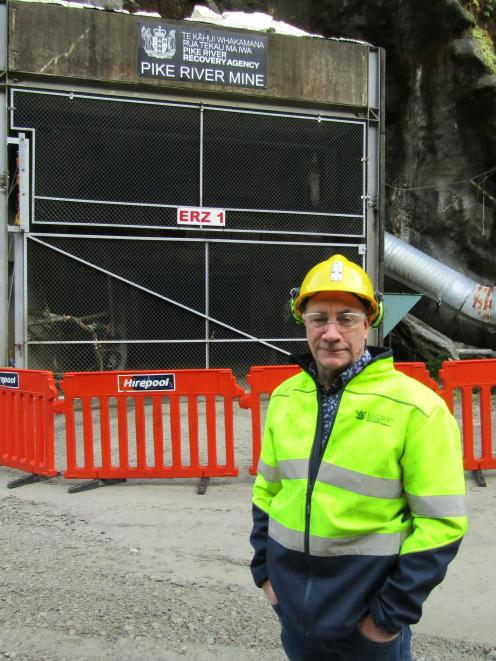 Dinghy Pattinson at the mine 