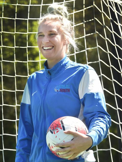 Departing Football South women's development officer Tessa Nicol prepares to coach Soccer Sisters...