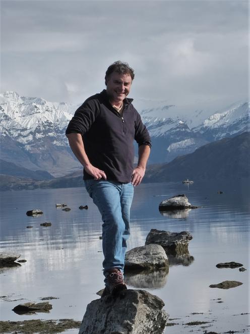 Chris Arbuckle, of Aspiring Environmental and Touchstone, at Beacon Point Lake Wanaka. PHOTO: SUPPLIED