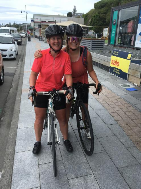 Ashlee Paulsen (left) and Minna Wilson stopped off in Kaikoura during their ''Making Waves,...