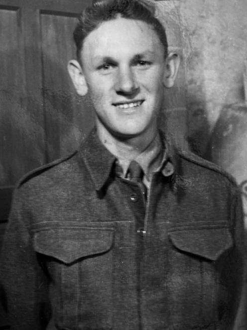 Fred Adams in his army uniform in 1952 as part of his compulsory military training. Photo: Supplied