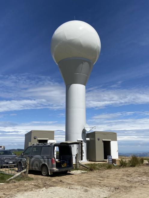 The new MetService weather radar in Dunedin. PHOTO: SUPPLIED