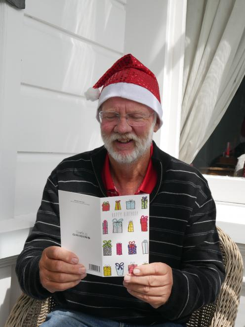 Double the celebration . . . Ken Rust, of Roslyn, was born on Christmas Day, 1953. PHOTO: JESSICA...