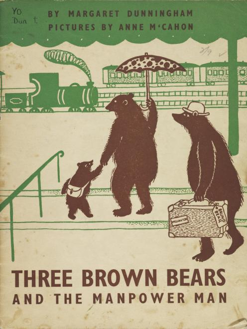 Three Brown Bears and the Manpower Man, by Margaret Dunningham, pictures by Anne McCahon. PHOTOS:...