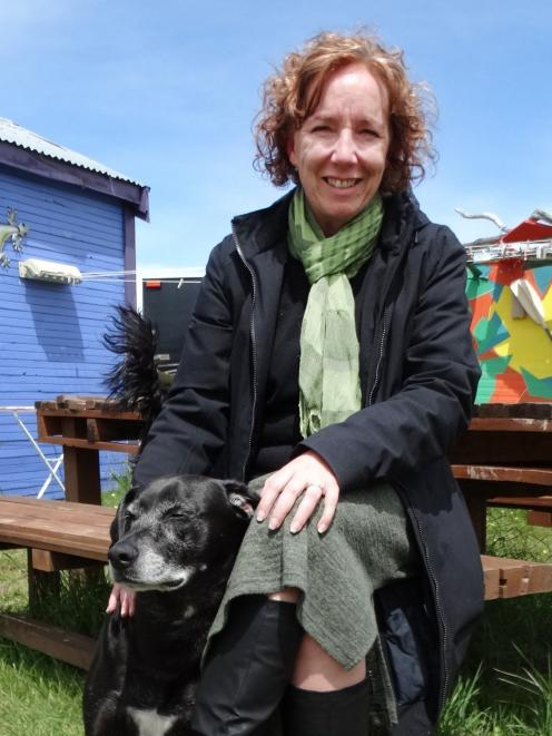 Chairwoman of the Lake Hawea Community Association Cherilyn Walthew with Rex.  PHOTO: MARK PRICE