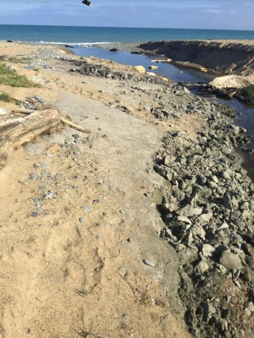 "Recent damage at Awamoa Creek is ""on another level entirely"", Heritage New Zealand Pouhere..."