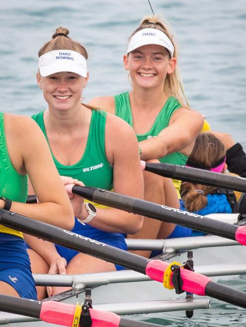 Sophie Smith from Dunedin (left) and Sophie Smith from Alexandra shoot a smile at the camera...