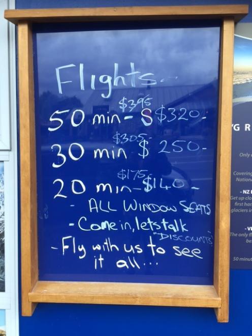 Recent deals for tourists. Photo: ODT