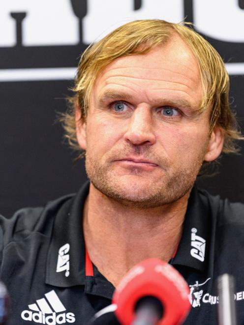 Crusaders coach Scott Robertson had come through the club system. Photo: ODT files