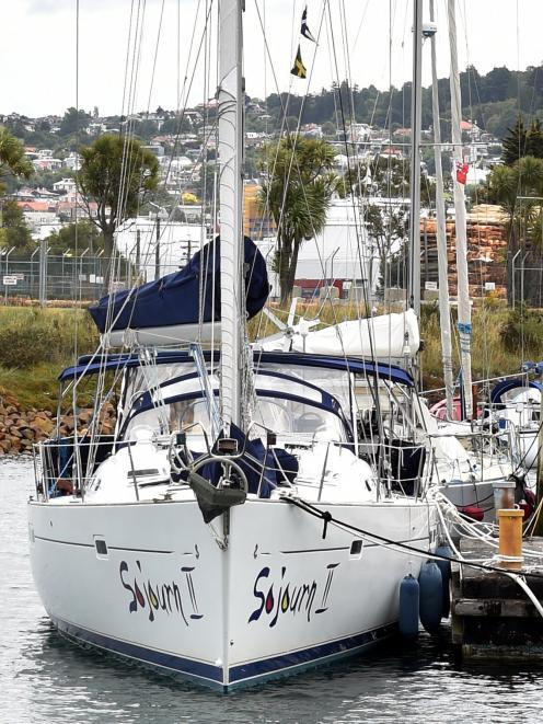 Sojourn II at the Otago Yacht Club marina yesterday.