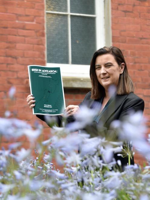Prof Sonja Tiernan, co-director of the University of Otago Centre for Irish and Scottish Studies....
