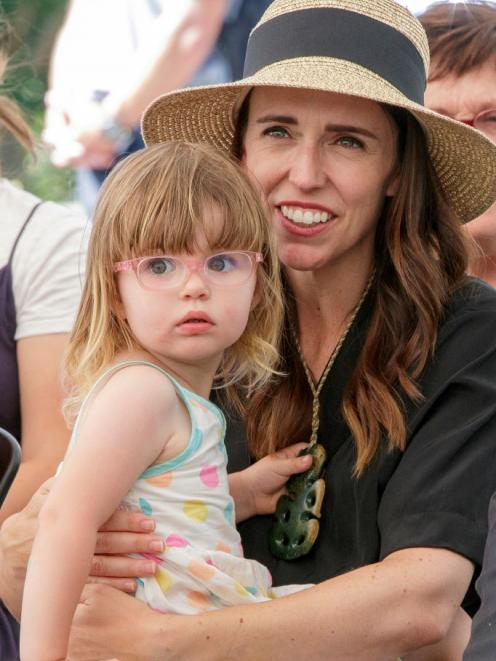 Prime Minister Jacinda Ardern with daughter Neve. Photo: Getty Images